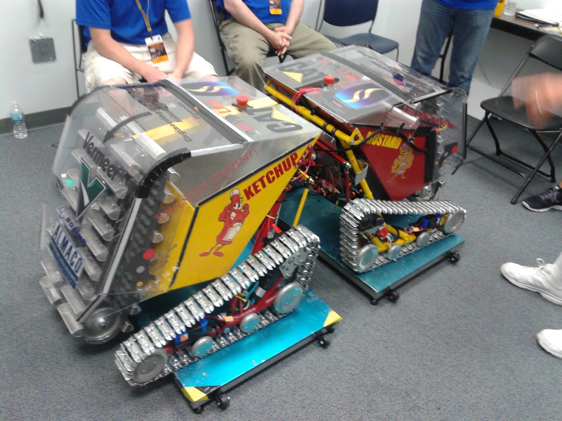 Ketchup and Mustard - the Iowa State NASA Robotic Mining Competition (RMC) robots from 2016